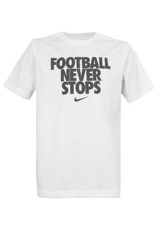 Anguila Disgusto impresión  Camiseta Nike Football NVR Stops TD Branca - Compre Agora   Dafiti Brasil
