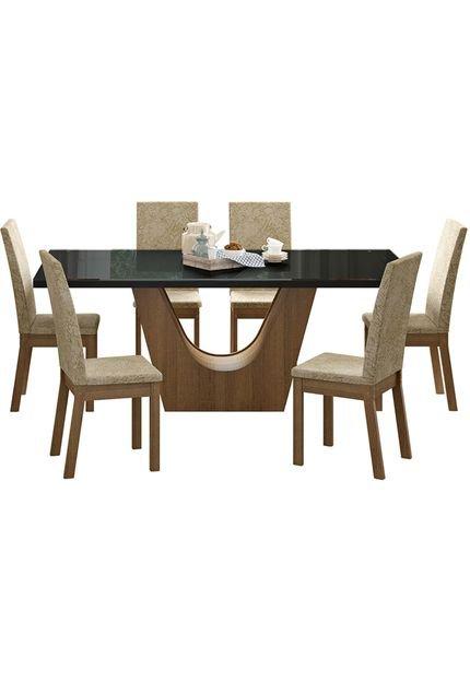 Menor preço em Conj. Sala de Jantar Mesa c/ 6 Cadeiras Madesa Úrsula