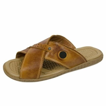 3LS3 Chinelo 3ls3 Casual Couro Marrom 3tq6g