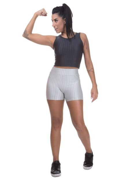 Miss Blessed Short Miss Blessed Premium Cirre 3D Poliamida Cinza lup9S