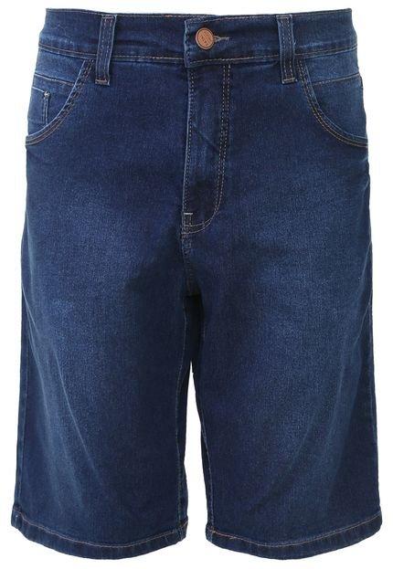 Bermuda Jeans Fatal Reta Azul