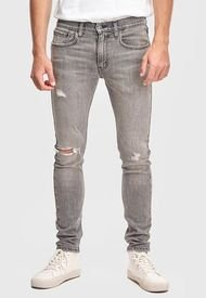 Jeans Levis  LVM 8455801  Gris - Calce Skinny