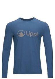 Polera Logo Lippi Long Sleeve T-Shirt Azul Lippi
