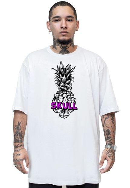 Camiseta Manga Curta Skull Clothing Pineapple Branco