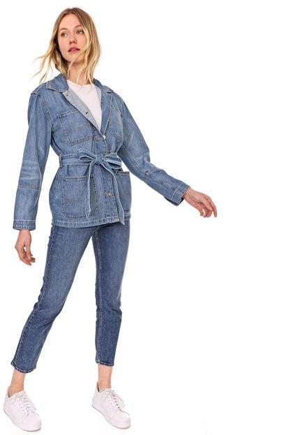 GAP Jaqueta Parka Jeans GAP Bolsos Azul