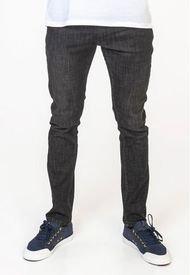 Jeans Slim Tapered Color Denim Negro Polemic