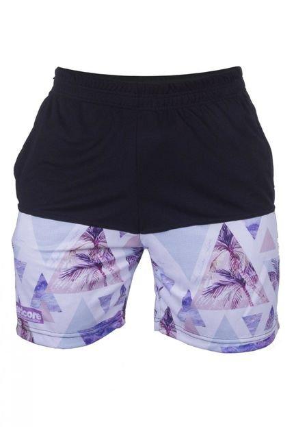 Bermuda Hardcore Line Dry Fit Tropical Purple Preto