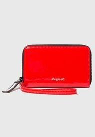 Billetera Plain Colors Rojo Desigual