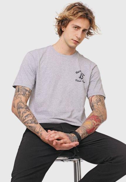 Camiseta Volcom Cali Bear Cinza