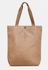 Bolso Shopper Logo Beige Esprit