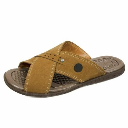 3LS3 Chinelo 3ls3 Casual Couro Marrom FbB1i