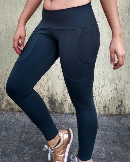 JuliGeo Modas Calça Legging Tecido Emana Anticelulites com Bolso OjeiB