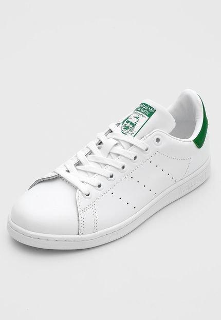 Tênis Couro adidas Originals Stan Smith Branco/Verde - Marca adidas Originals