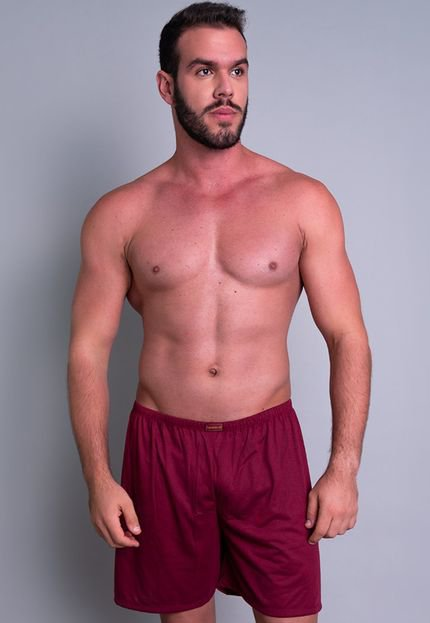 Short Curto MVB Modas  Pijama De Dormir Vinho