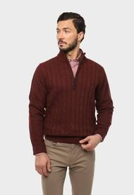 Sweater Half Zipper Burdeo Arrow