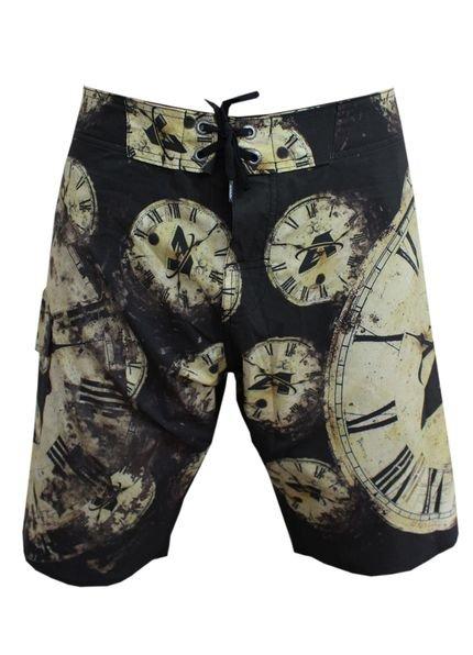 Bermuda Tecido Alkary Relógio Preto