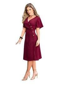 Vestido Corto Para Mujer Vinotinto MP