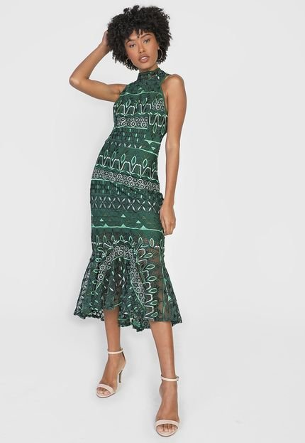 Menor preço em Vestido Colcci Midi Sereia Verde