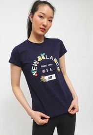 Polera New Balance Lifestyle Azul - Calce Regular