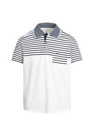 Camiseta Tipo Polo Blanca Audax Con Bolsillo
