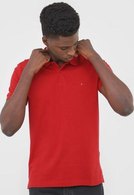 Camisa Polo Aramis Regular Fit Piquet Lisa Vermelha