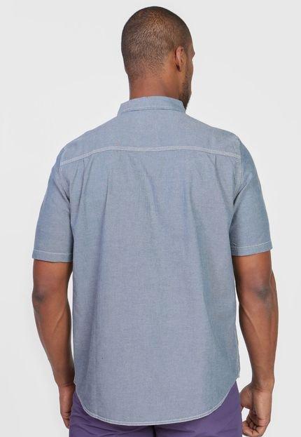 Element Camisa Element Reta Biner Timber Azul