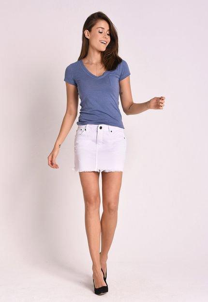 CAFEZAL JEANS Saia Curta Cafezal Jeans Daje Off White QXS8S