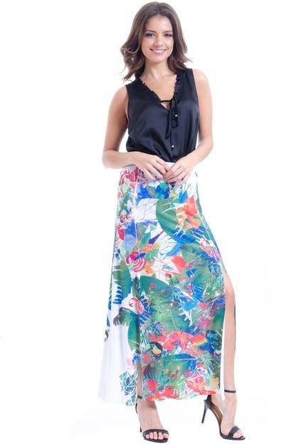 101 Resort Wear Regata 101 Resort Wear Babado Decote Preto