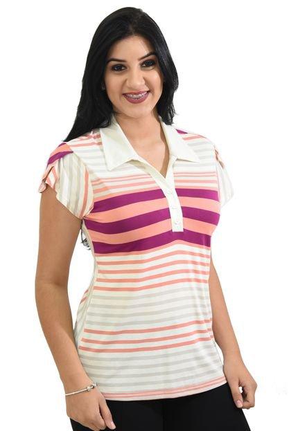 Energia Blusa Energia Fashion Listrada Rosa LEo4t