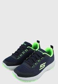 Tenis Training Azul-Verde-Blanco Skechers Kids Dynamic Tread - Nitrode