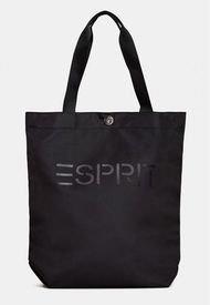 Bolso Shopper Logo Negro Esprit
