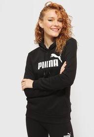 Polerón Puma ESS Logo Hoodie FL Negro - Calce Regular