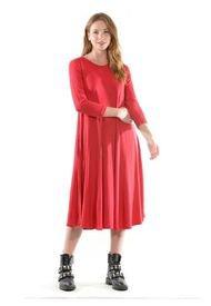 Vestido Florence Liso Rojo Bous