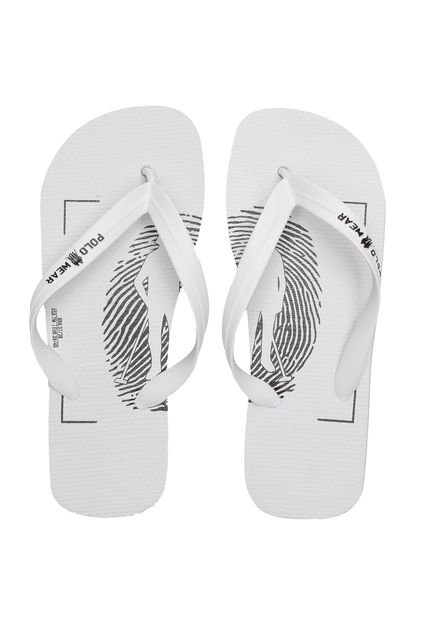 Polo Wear Chinelo Polo Wear Lettering Branco LWt2H