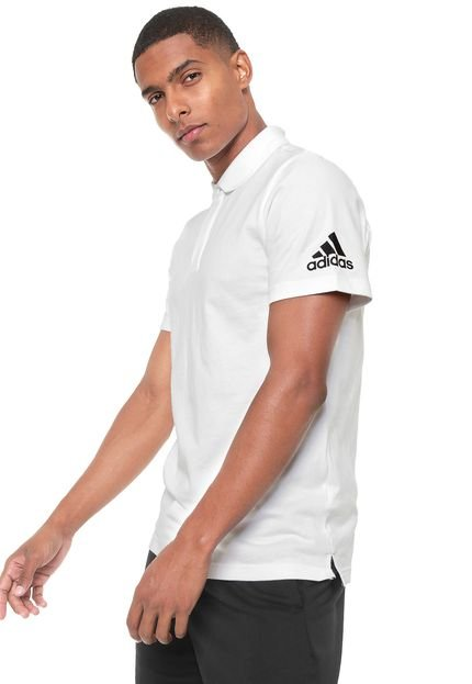 Camisa Polo adidas Performance Mh Plain Branca