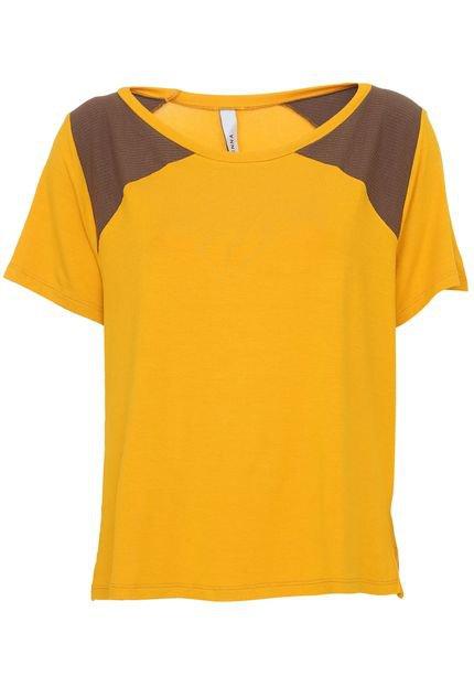 Enna Camiseta Enna Recortes Amarela w0PO8