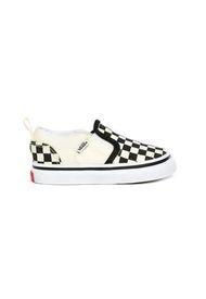 Zapatilla Urbana Niño Td Asher V (Checkers) Blanco Vans