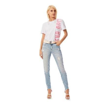Morena Rosa Calca Morena Rosa  Slim Cropped Giane Cos Intermediario Com Cinto  Jeans 6mERl