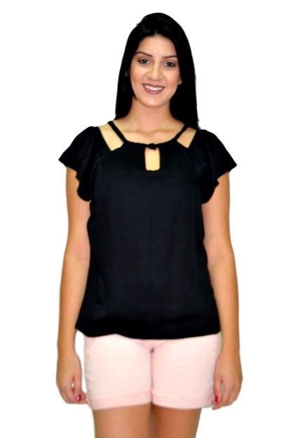 Energia Blusa Energia Fashion 271184 Decote Preta IIAZv