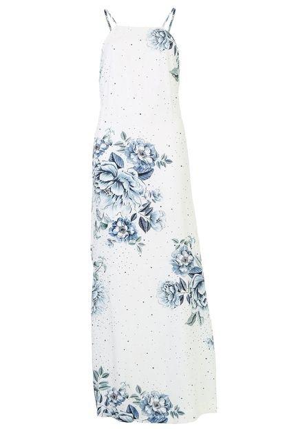 Dress to Vestido Dress to Longo Iris Off-White/Azul FFlMZ