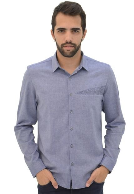 Camisa Opera Rock Corrido Azul
