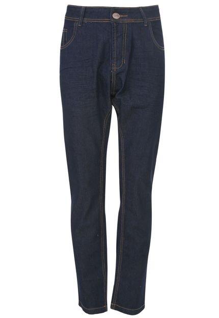 Calça Jeans Zune Slim Pespontos Azul