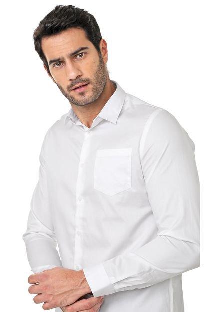 Camisa Acostamento Reta Lisa Branca