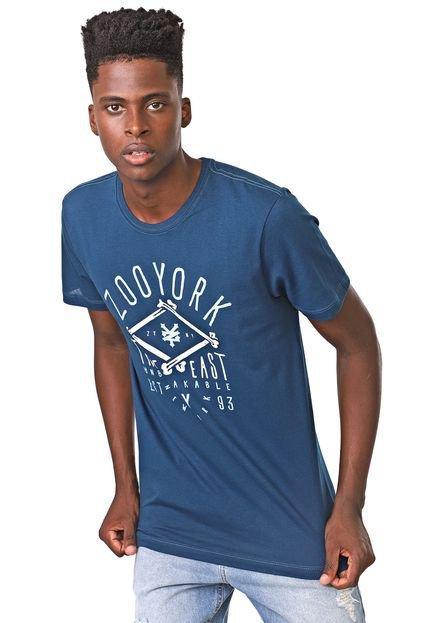 Camiseta Zoo York Manga Curta Bones Azul