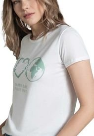 Camiseta Para Mujer Marfil Rutta