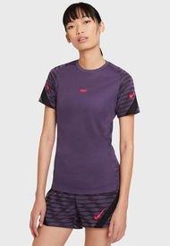 Polera Nike W NK DF STRKE21 TOP SS Morado - Calce Regular