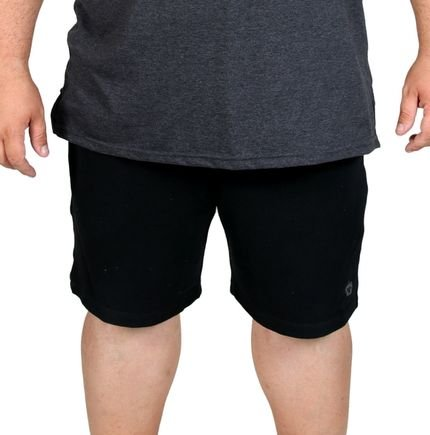 Bermuda Moletinho BigShirts plus size Wafer Preta