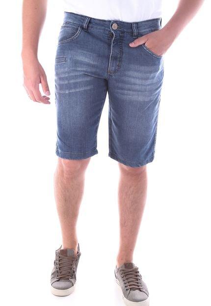 Bermuda 667 Jeans Regular Traymon Azul