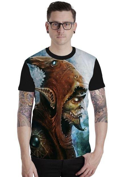 Camiseta Lucinoze Manga Curta Goblin Preto