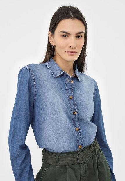 Colcci Camisa Jeans Colcci Estonada Azul jM5cW